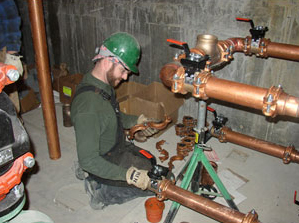 Tim is one of our Concord commercial plumbing pros and he installs new pipes
