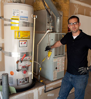 Rick has finished a water heater installation in Concord