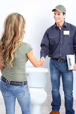 Mike, one of our plumbers in Concord meets the customer and they discuss the plumbing issue